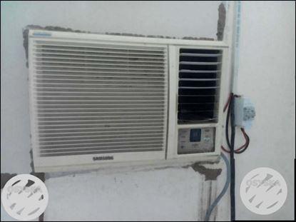 White Samsung Window-type Air Conditioner