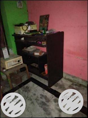 Black colour wood table