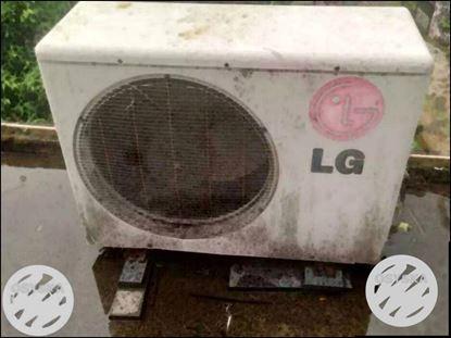 White LG Air Condenser Unit