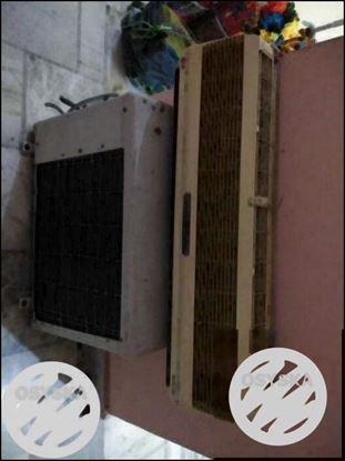 Beige Split-type Air Conditioner And Air Condenser