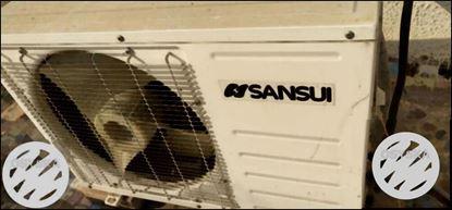 White Sansui Outdoor AC Unit