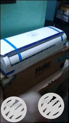White Haier Split-type AC Unit With Box
